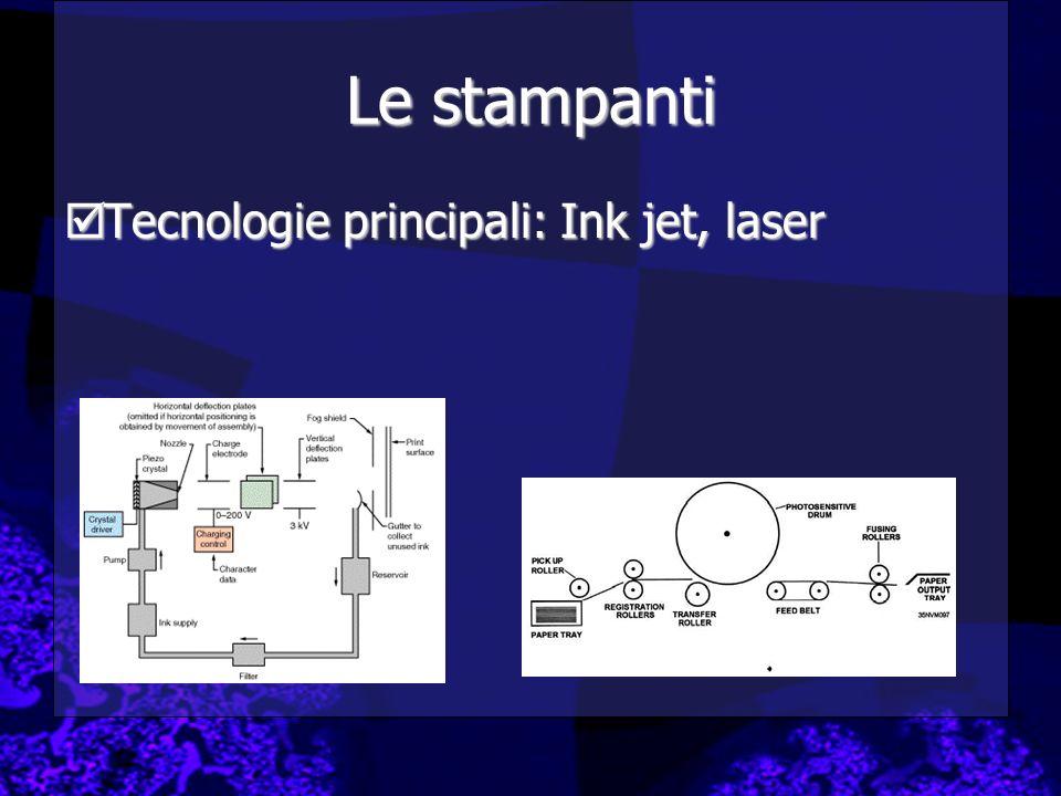 Le stampanti Tecnologie principali: Ink jet, laser Tecnologie principali: Ink jet, laser