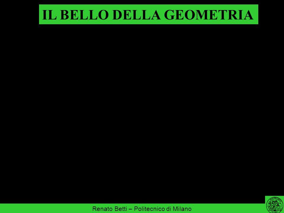 IL BELLO DELLA GEOMETRIA Renato Betti – Politecnico di Milano quando egli fissava i cieli, io ero là; quando tracciava un cerchio sull abisso; (Proverbi 8, 27)