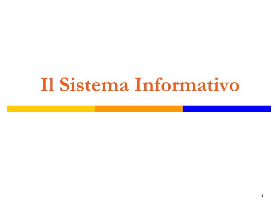 2 E linsieme di tutte le informazioni prodotte nel sistema di impresa, degli strumenti utilizzati per produrle e delle unità organizzative a ciò preposte