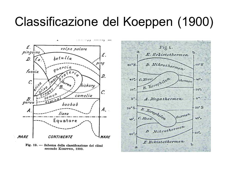 Classificazione del Koeppen (1900)