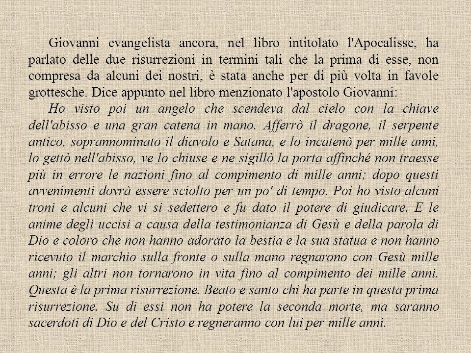 Agostino De civitate Dei, XX, 7 Lettera ad Esichio, De fine saeculi Lescatologia rinviata La critica del millenarismo