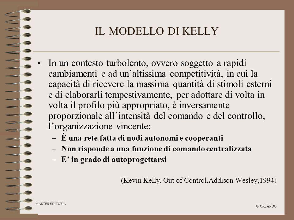 MASTER EDITORIA G. ORLANDO IL MODELLO DI KELLY In un contesto turbolento, ovvero soggetto a rapidi cambiamenti e ad unaltissima competitività, in cui