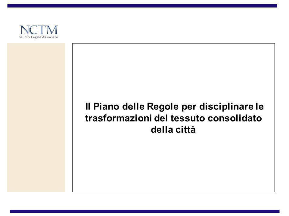 IL PIANO DELLE REGOLE STRUMENTI DI ATTUAZIONE IL PIANO DELLE REGOLE STRUMENTI DI ATTUAZIONE