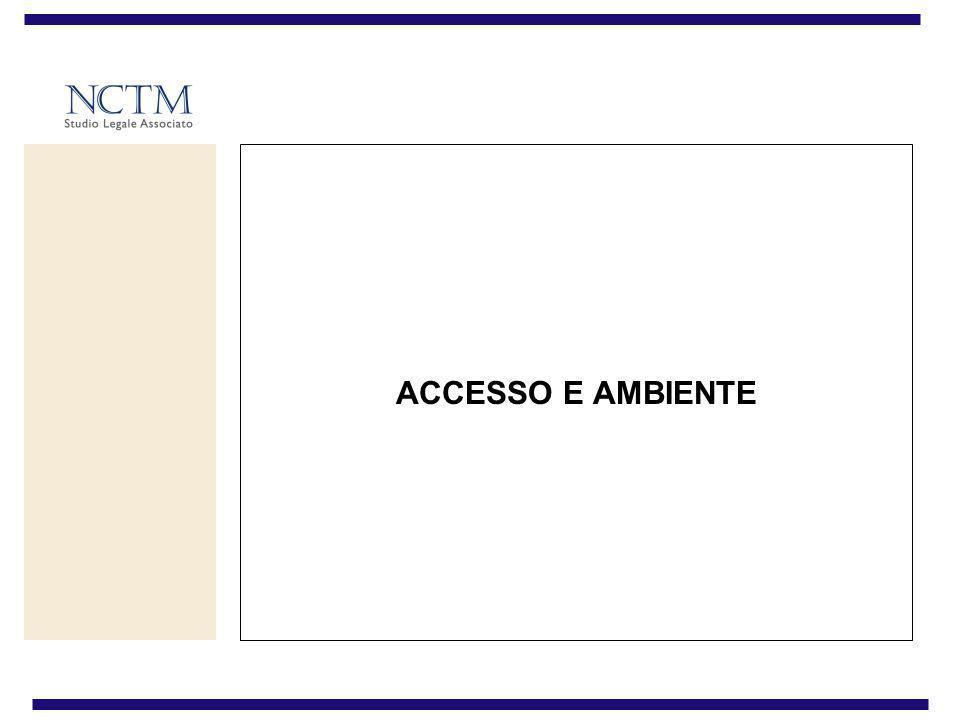 ACCESSO E AMBIENTE