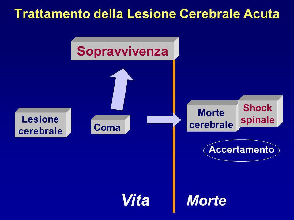 Trattamento della Lesione Cerebrale Acuta Lesione cerebrale Sopravvivenza Vita Morte Coma Morte cerebrale Shock spinale Accertamento