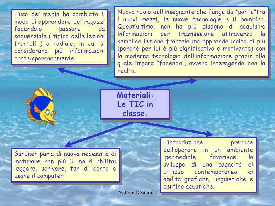 Valeria Deschino Luso dei media ha cambiato il modo di apprendere dei ragazzi facendolo passare da sequenziale ( tipico delle lezioni frontali ) a rad