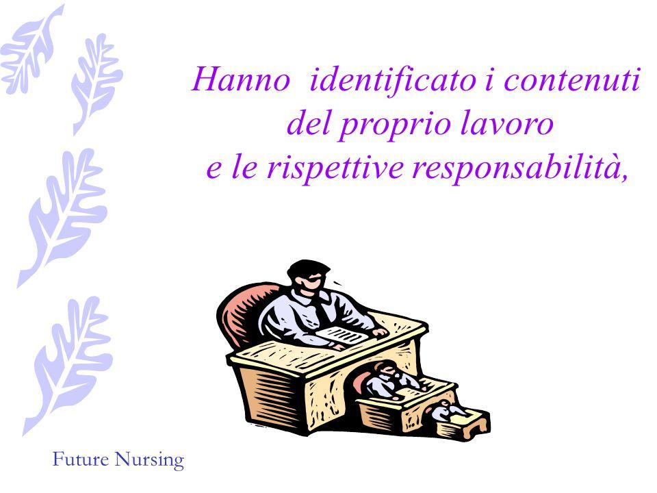 Future Nursing Il loro punto di partenza è stato il processo di assistenza infermieristica che mira a stabilire una diagnosi infermieristica, ad elabo