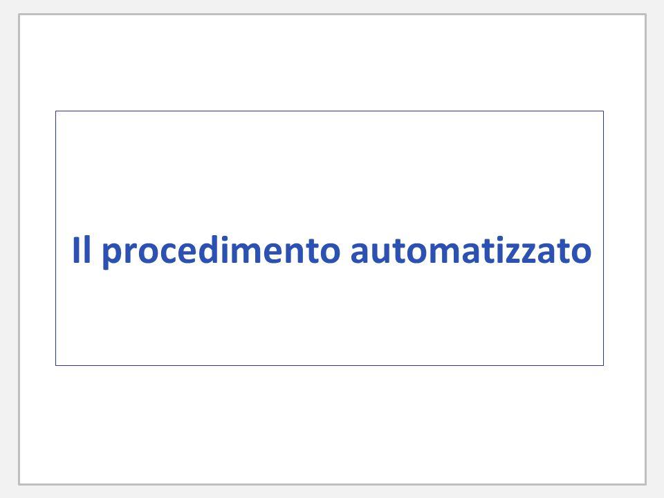 Il procedimento automatizzato
