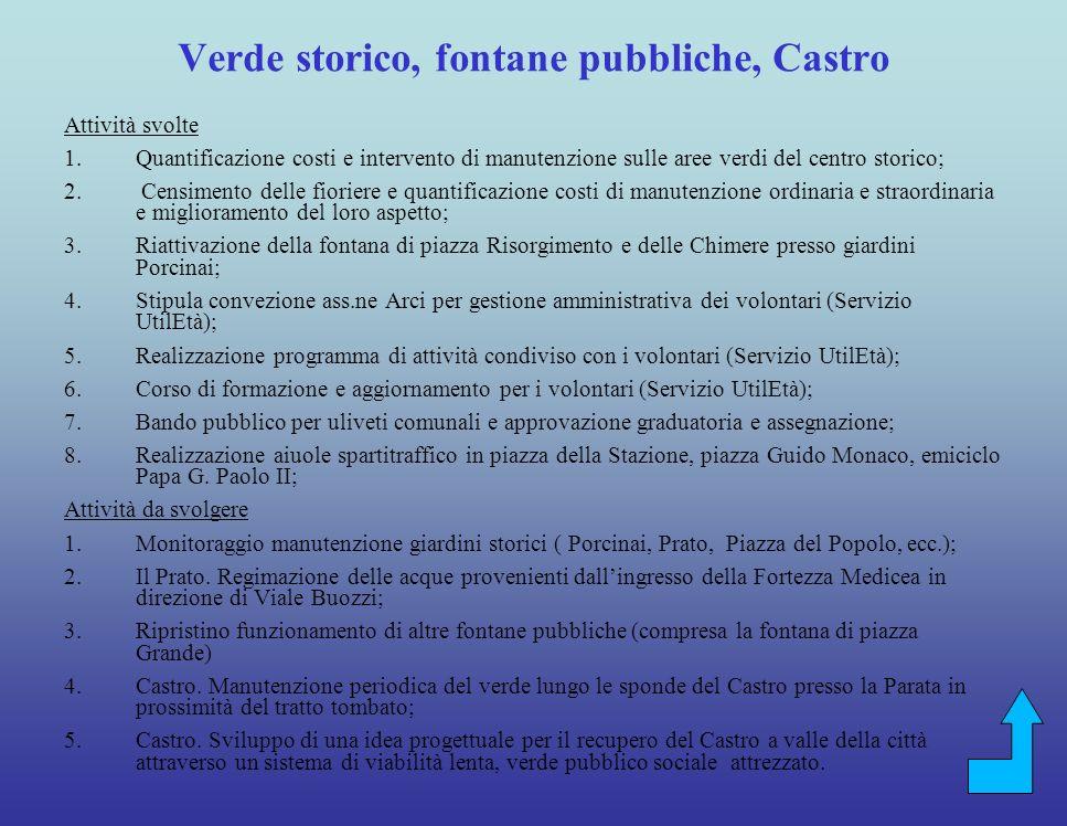 Attività svolte 1.Intervento di riqualificazione delledificio del Tourist Office di piazza della Repubblica con il coinvolgimento di sponsor e volontari.