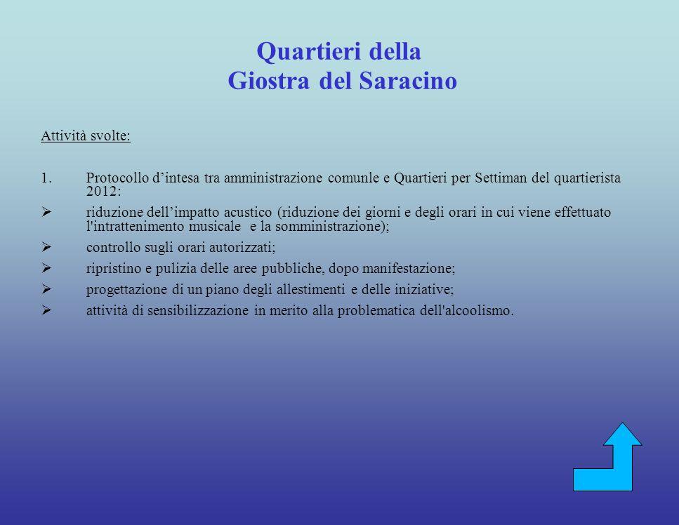 Coinvolgimento della cittadinanza (Scuole, stakeholder, cittadini, Quartieri della Giostra) Attività svolte 1.Legambiente.