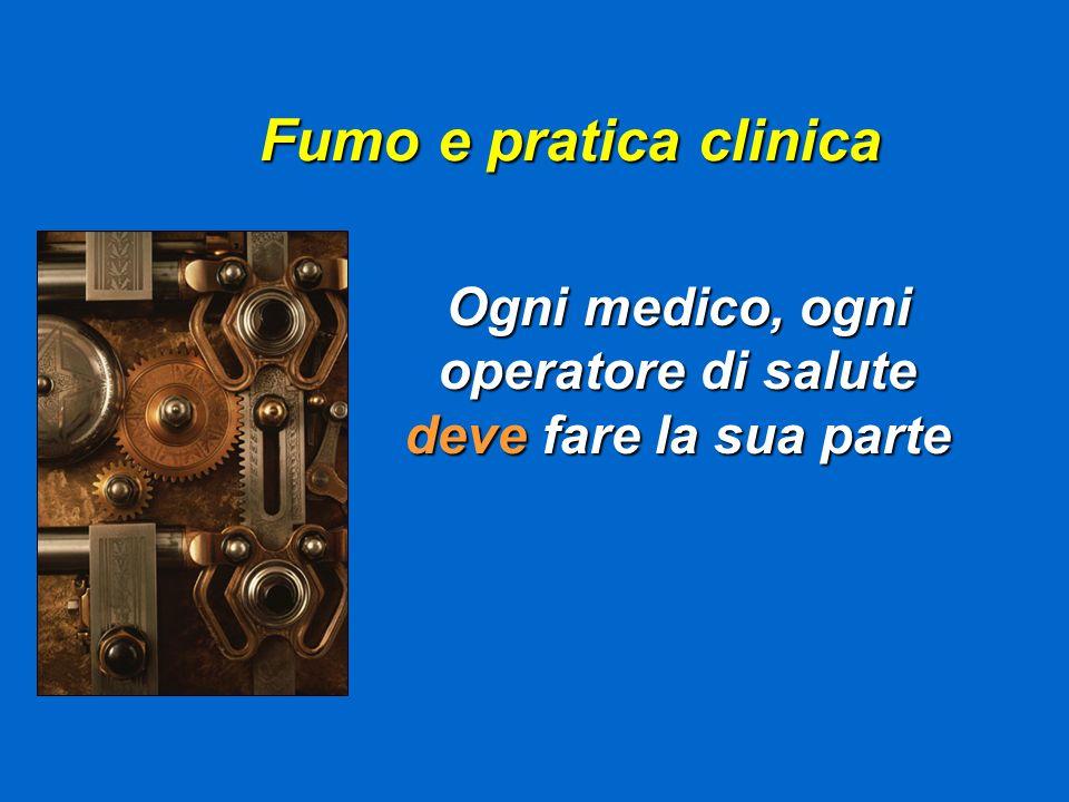 Fumo e pratica clinica Ogni medico, ogni operatore di salute deve fare la sua parte