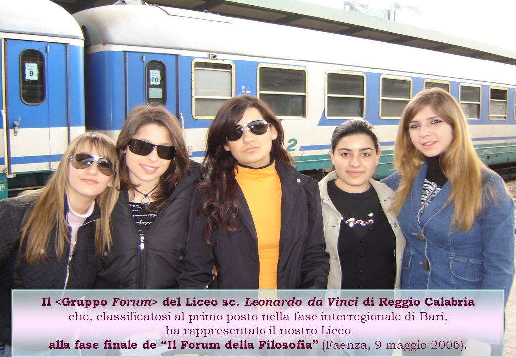 Il del Liceo sc. Leonardo da Vinci di Reggio Calabria che, classificatosi al primo posto nella fase interregionale di Bari, ha rappresentato il nostro
