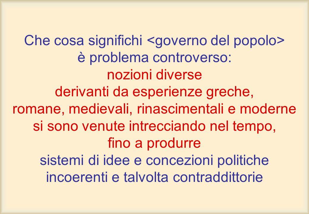 La poliarchia contemporanea si configura come un modello di democrazia molto diverso dalla stessa liberaldemocrazia: tale diversità è data dal ruolo dei gruppi sociali, la cui presenza, per molti versi sostitutiva dellindividuo isolato, modifica in maniera rilevante la dinamica dei processi decisionali.