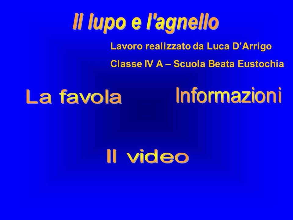 Lavoro realizzato da Luca DArrigo Classe IV A – Scuola Beata Eustochia