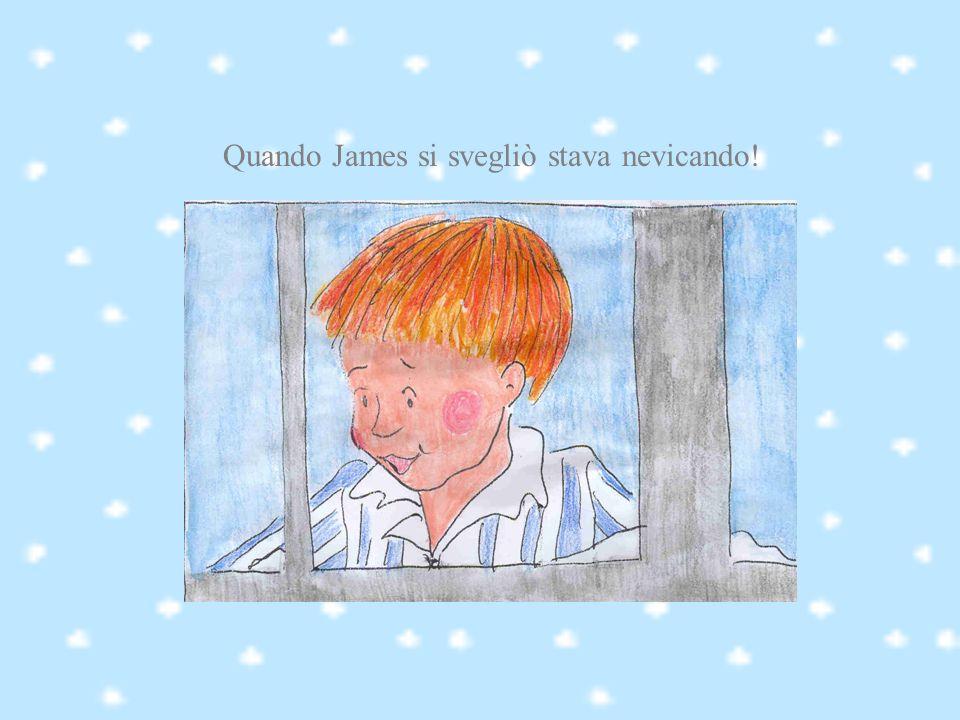 Quando James si svegliò stava nevicando!
