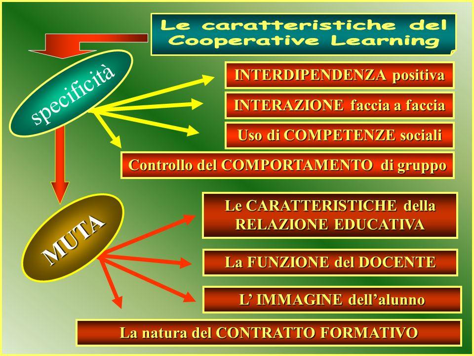 ALIMENTA UNA CALDA RELAZIONE EDUCATIVA SVOLGE FUNZIONI DI REGIA DIFFERENZIA LA NATURA DEL CONTRATTO FORMATIVO ORGANIZZA UN CLIMA SOCIALE POSITIVO FUNZ