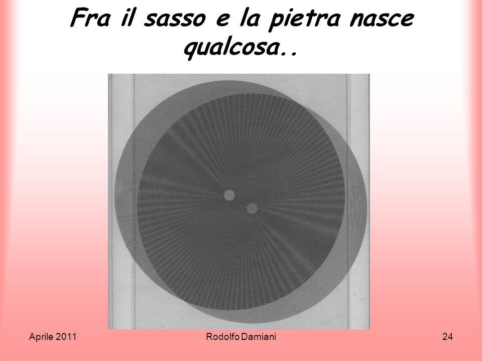 Aprile 2011Rodolfo Damiani24 Fra il sasso e la pietra nasce qualcosa..