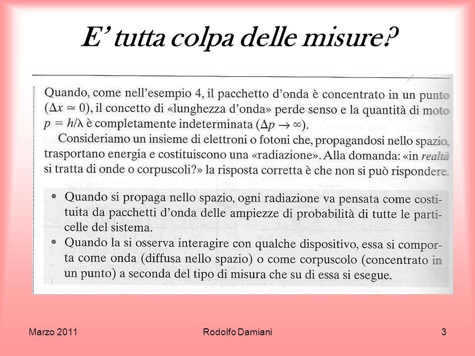 Maggio 2011Rodolfo Damiani44 Limportanza di chiamarsi onda..