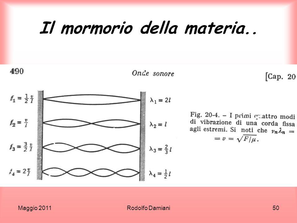 Maggio 2011Rodolfo Damiani50 Il mormorio della materia..
