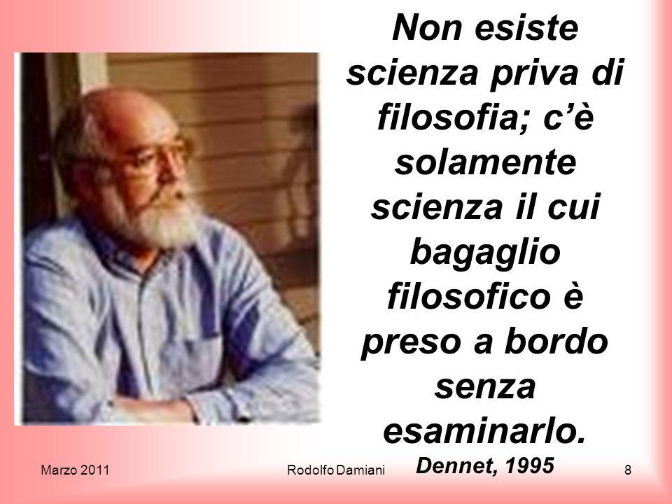 Marzo 2011Rodolfo Damiani19 La fine delloggetto newtoniano In pratica la dualità onda-particella non esiste.