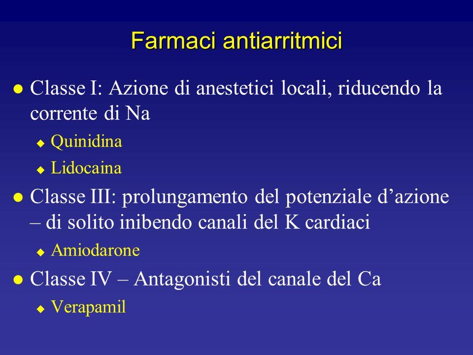 Canali ionici nelle fibre del Purkinje l Gli stessi delle cellule ventricolari l Più una quantità molto piccola di canali I f (pacemaker)