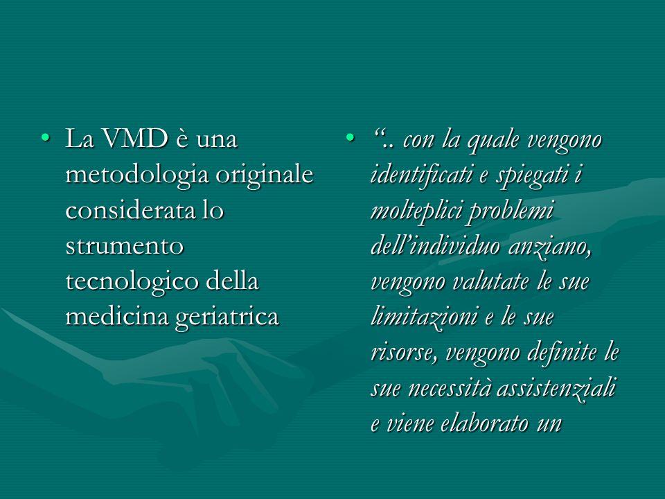 La VMD è una metodologia originale considerata lo strumento tecnologico della medicina geriatricaLa VMD è una metodologia originale considerata lo str