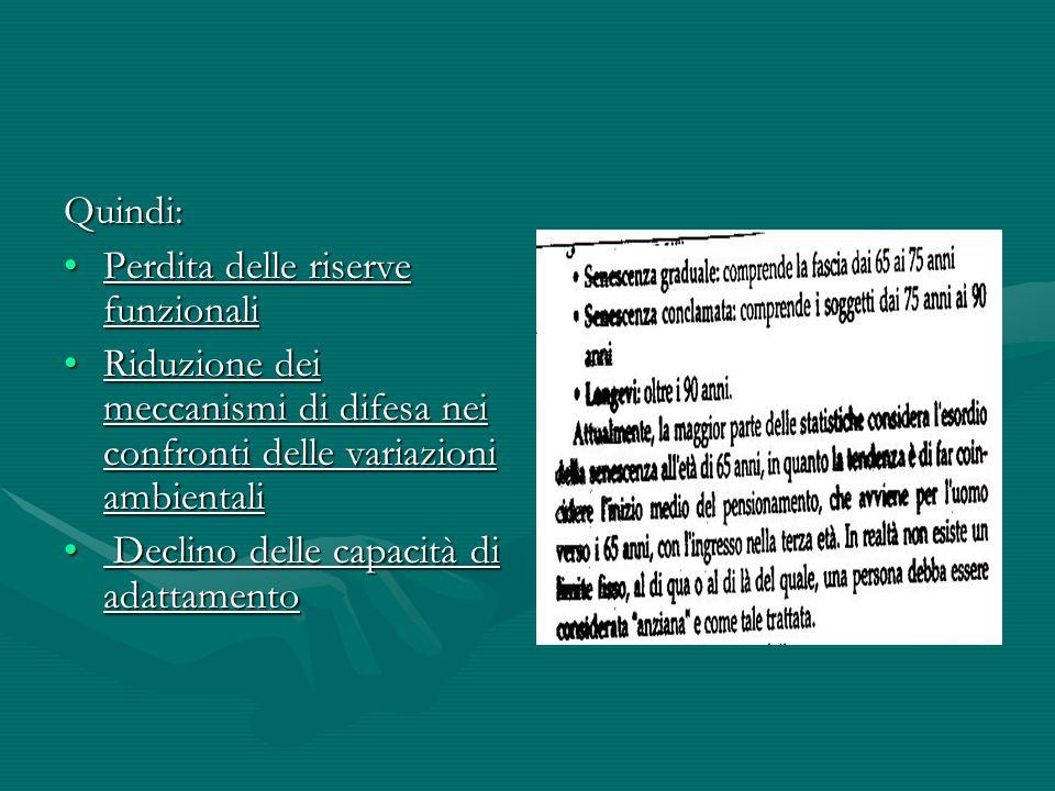 FATTORI DI RISCHIO STATO NUTRIZIONALESTATO NUTRIZIONALE RIDOTTA ASSUNZIONE DI ALIMENTIRIDOTTA ASSUNZIONE DI ALIMENTI PERDITA DI PESO NON INTENZIONALEPERDITA DI PESO NON INTENZIONALE CACHESSIACACHESSIA BMI<24 kg/mxmBMI<24 kg/mxm ALBUMINA SIERICA <35g/LALBUMINA SIERICA <35g/L BASSI LIVELLI DI Hb E HctBASSI LIVELLI DI Hb E Hct AUMENTO DEI LIVELLI DEL RECETTORE SOLUBILE DELLIL2AUMENTO DEI LIVELLI DEL RECETTORE SOLUBILE DELLIL2