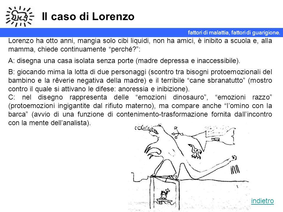 Il caso di Lorenzo Lorenzo ha otto anni, mangia solo cibi liquidi, non ha amici, è inibito a scuola e, alla mamma, chiede continuamente perché?: A: di