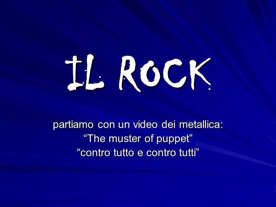 IL ROCK partiamo con un video dei metallica: The muster of puppet contro tutto e contro tutti