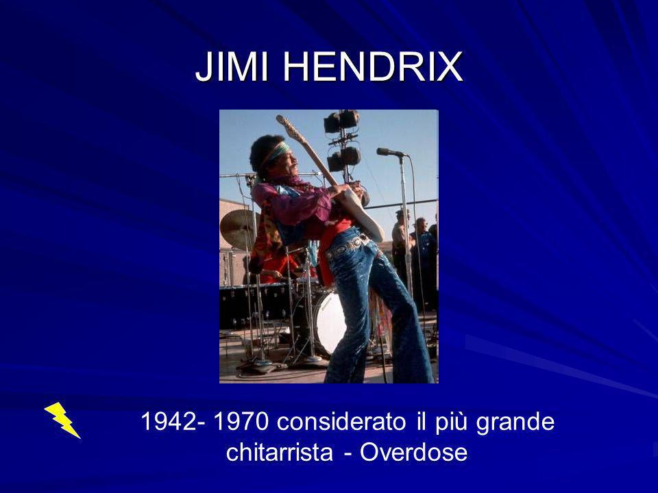 JIMI HENDRIX 1942- 1970 considerato il più grande chitarrista - Overdose