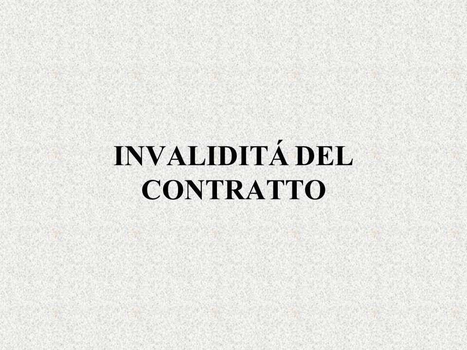INVALIDITÁ DEL CONTRATTO