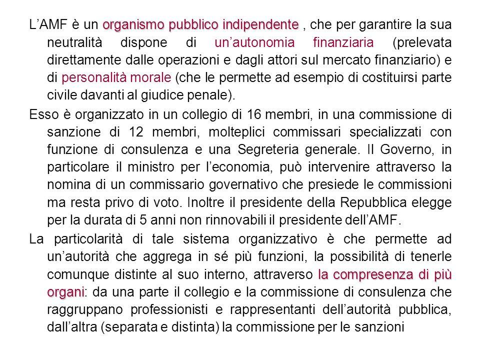 organismo pubblico indipendente LAMF è un organismo pubblico indipendente, che per garantire la sua neutralità dispone di unautonomia finanziaria (pre