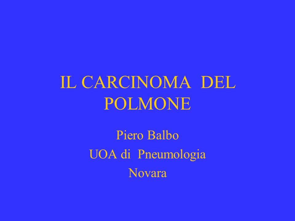 IL CARCINOMA DEL POLMONE Piero Balbo UOA di Pneumologia Novara