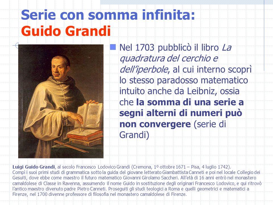 Nel 1703 pubblicò il libro La quadratura del cerchio e delliperbole, al cui interno scoprì lo stesso paradosso matematico intuito anche da Leibniz, os