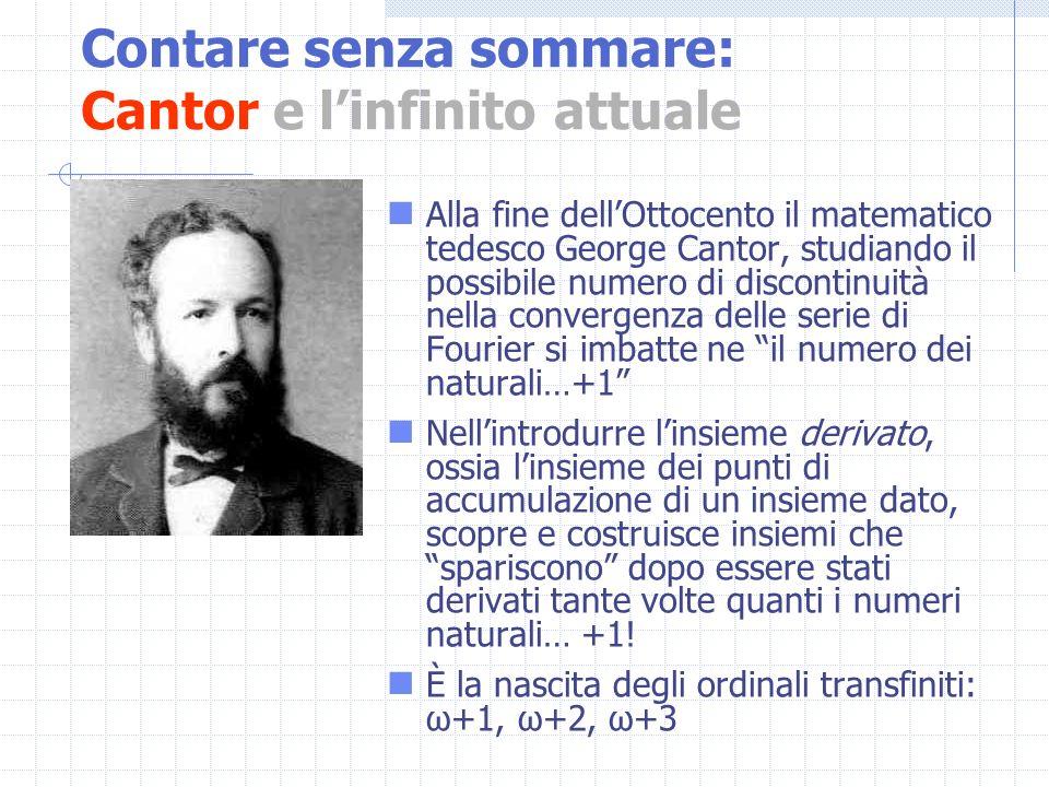 Alla fine dellOttocento il matematico tedesco George Cantor, studiando il possibile numero di discontinuità nella convergenza delle serie di Fourier s