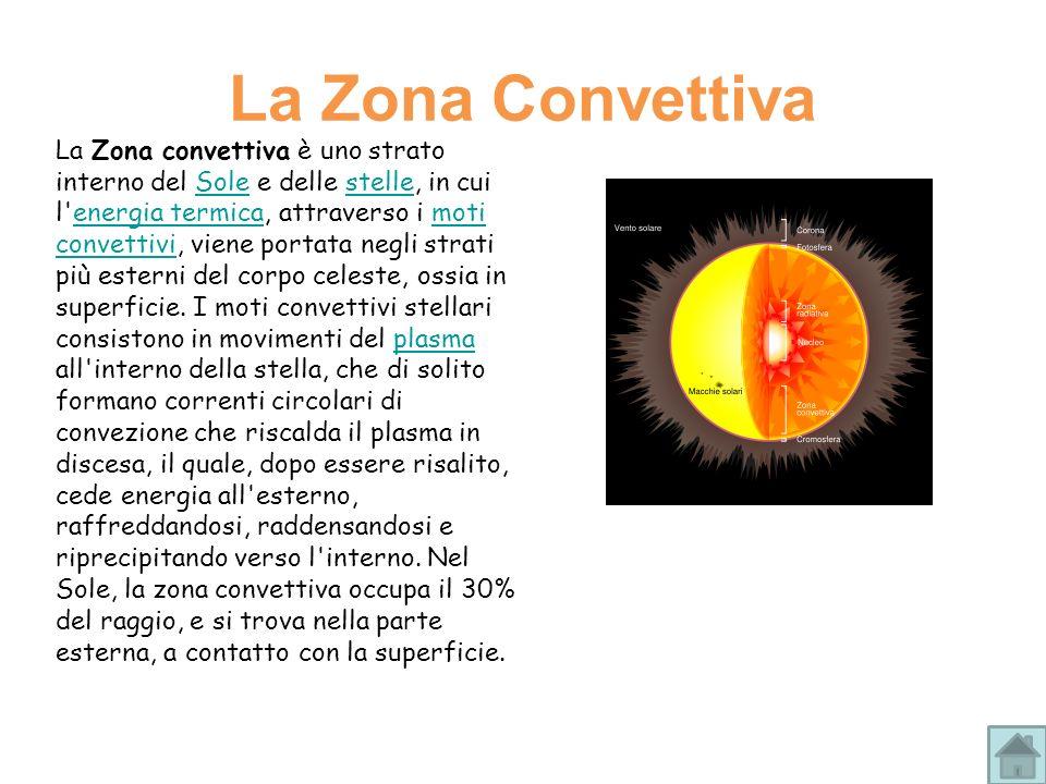 La Zona convettiva è uno strato interno del Sole e delle stelle, in cui l'energia termica, attraverso i moti convettivi, viene portata negli strati pi