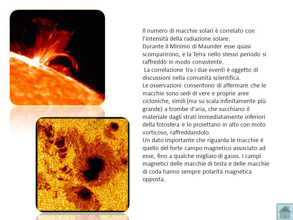 Il numero di macchie solari è correlato con l'intensità della radiazione solare. Durante il Minimo di Maunder esse quasi scomparirono, e la Terra nell
