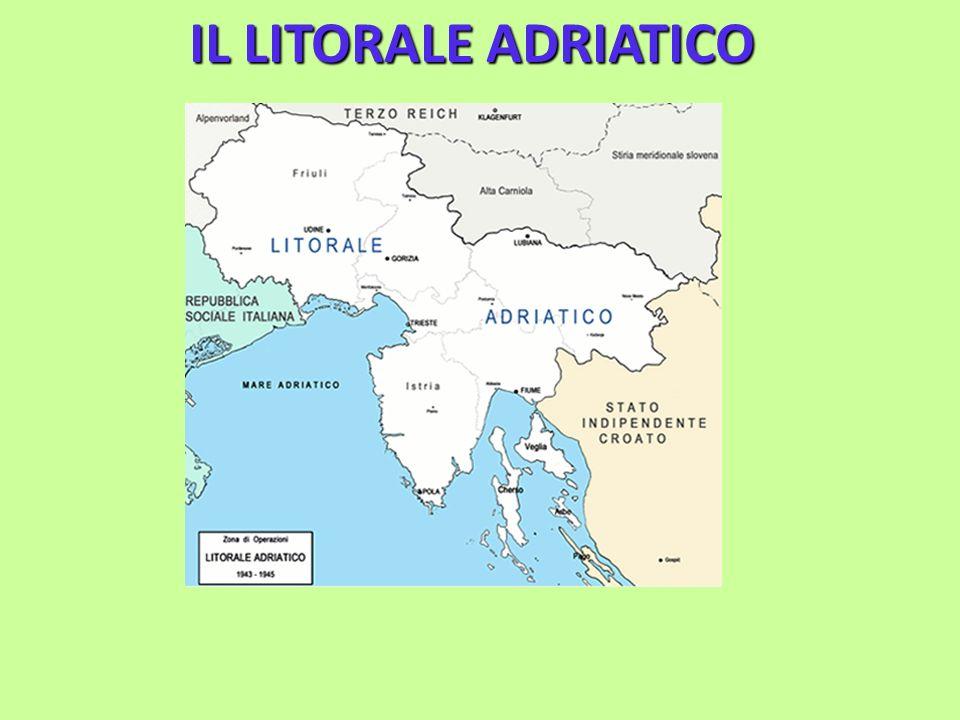 Con lo sbarco in Sicilia degli anglo- americani e larmistizio dell8 settembre 1943, i tedeschi prendevano il controllo della Venezia-Giulia ed istituivano la Zona doperazione Litorale Adriatico che comprendeva: Udine, Gorizia, Trieste, Lubiana, lIstria e la Croazia nord-occidentale.