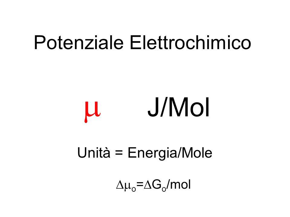 -RT ln ([B]) + RT ln ([A]) Distribuzione di Boltzmann AB ( o B + RT ln([B]))-( o A + RT ln([A])) = 0 -RT ln ([B]/[A]) = o [B]/[A]= K eq AllEquilibrio: Risolvendo rispetto a: = exp (- o /RT) Cambiamento Conformazionale