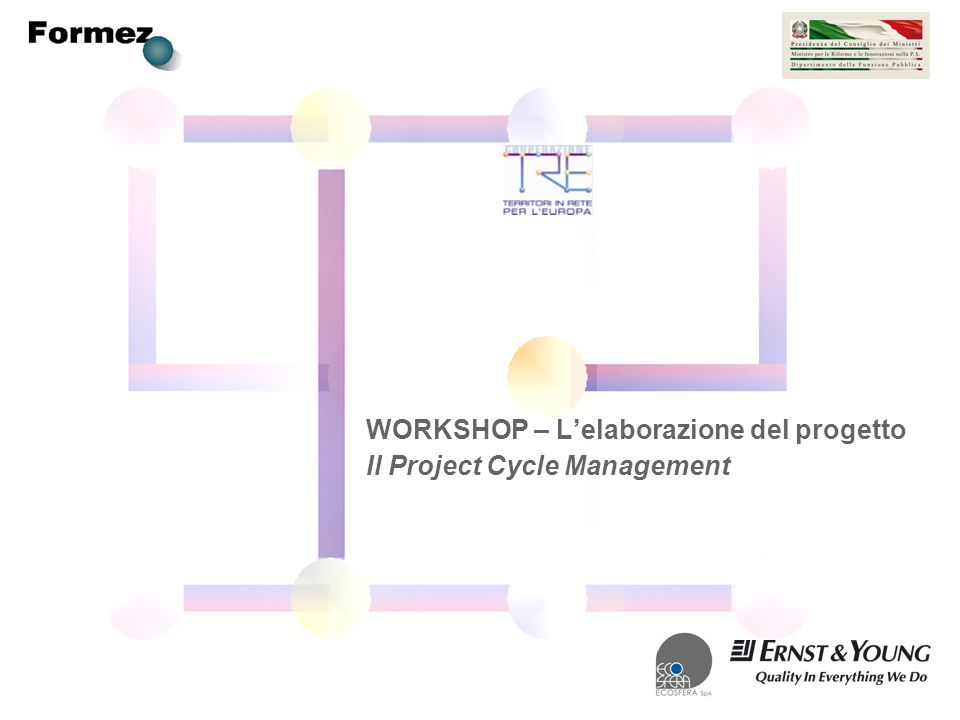 WORKSHOP – Lelaborazione del progetto Il Project Cycle Management