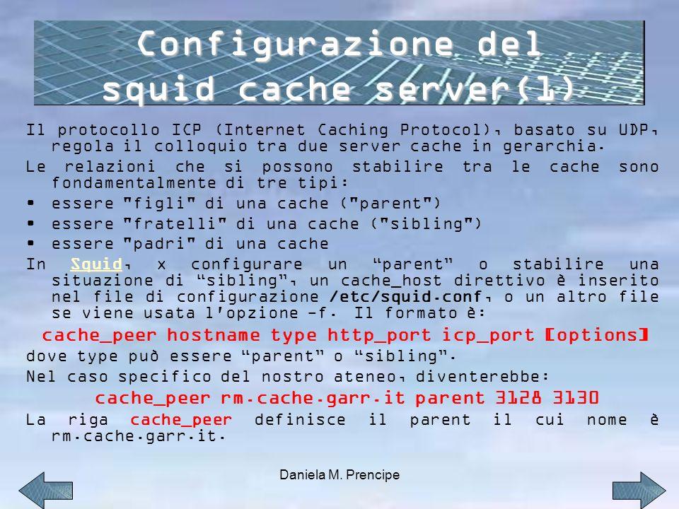 Il protocollo ICP (Internet Caching Protocol), basato su UDP, regola il colloquio tra due server cache in gerarchia.