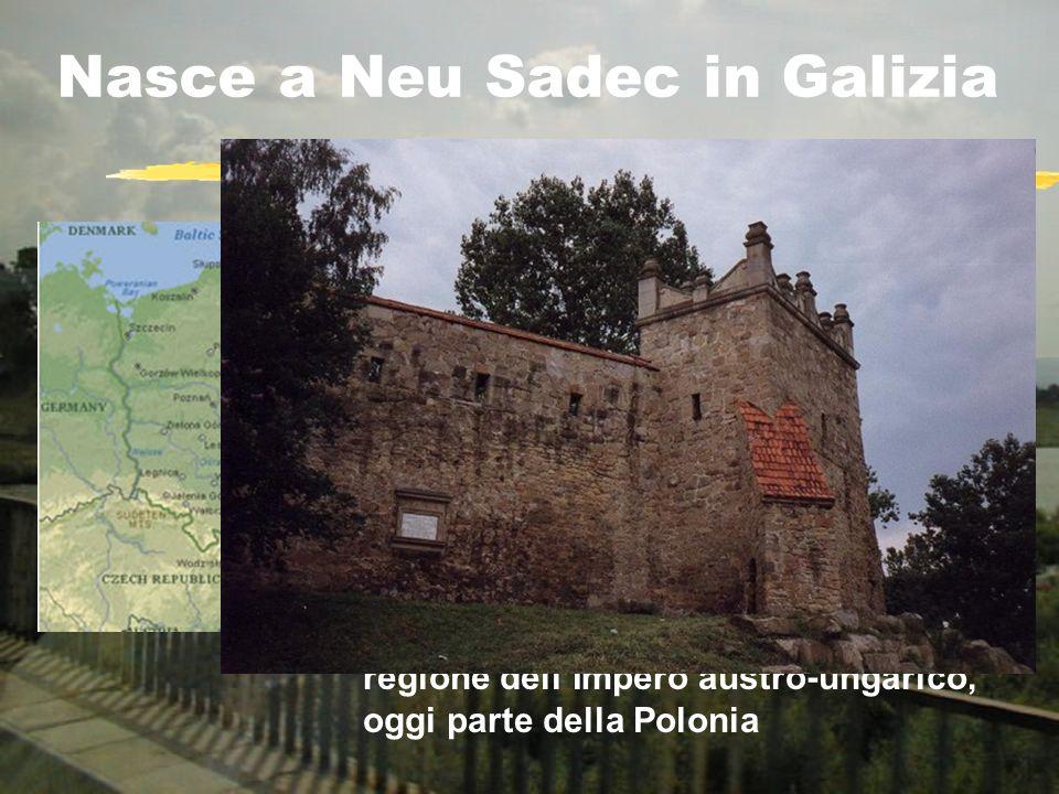 Nasce a Neu Sadec in Galizia regione dellImpero austro-ungarico, oggi parte della Polonia