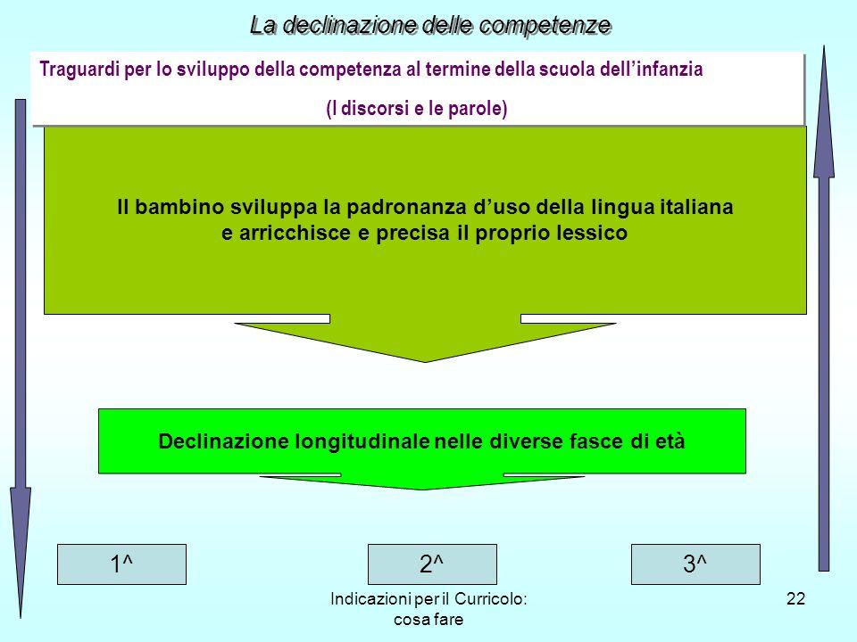 Indicazioni per il Curricolo: cosa fare 22 Il bambino sviluppa la padronanza duso della lingua italiana e arricchisce e precisa il proprio lessico Dec