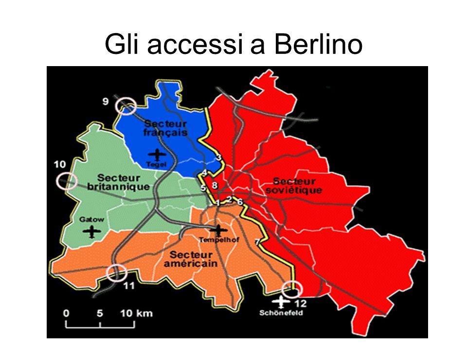 Gli accessi a Berlino