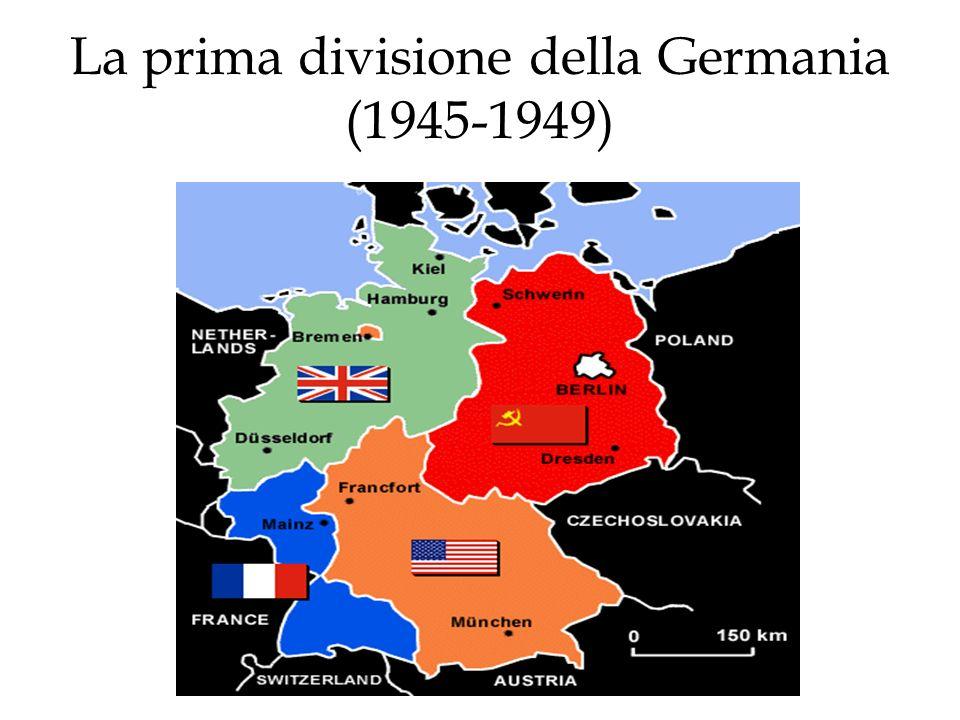 Gente e frontiere Naturalmente, questa divisione creò tutta una serie di frontiere, esterne ed interne, che, con laumentare delle tensioni tra lU.R.S.S.