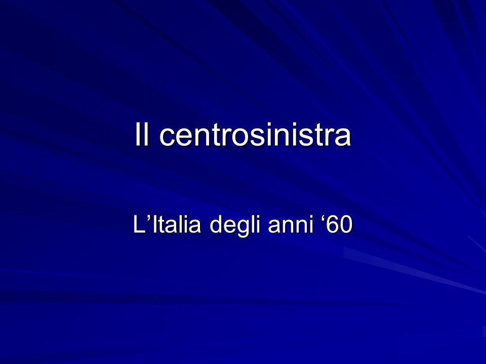 Il centrosinistra LItalia degli anni 60