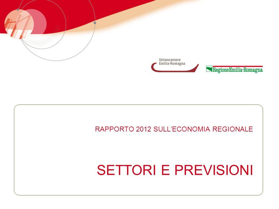 SETTORI E PREVISIONI RAPPORTO 2012 SULLECONOMIA REGIONALE