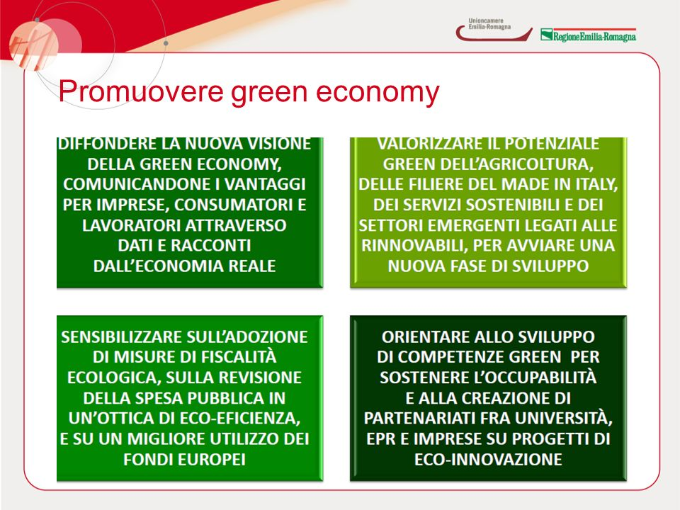 Promuovere green economy 30