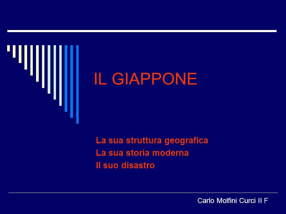 IL GIAPPONE La sua struttura geografica La sua storia moderna Il suo disastro Carlo Molfini Curci II F