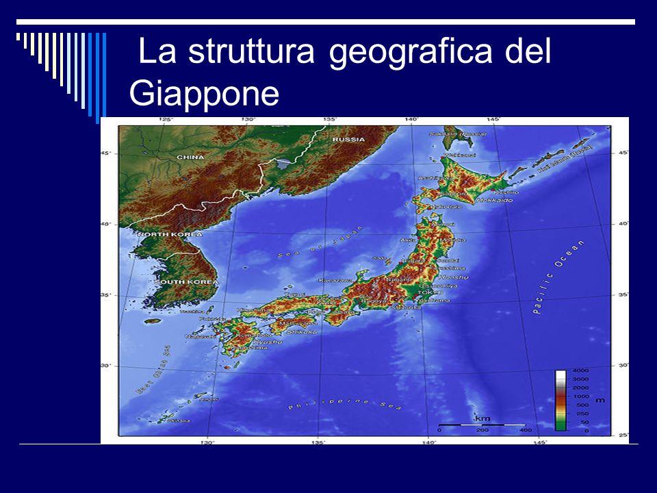 La struttura geografica del Giappone